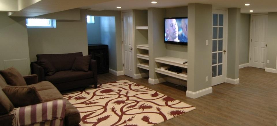 basement renovation burlington remodeling floor installation